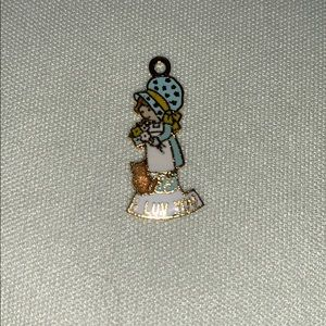 Vintage Holly Hobbie Necklace Charm